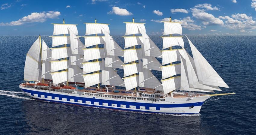 Neues größtes Segelschiff der Welt über OceanEvent zur Charter