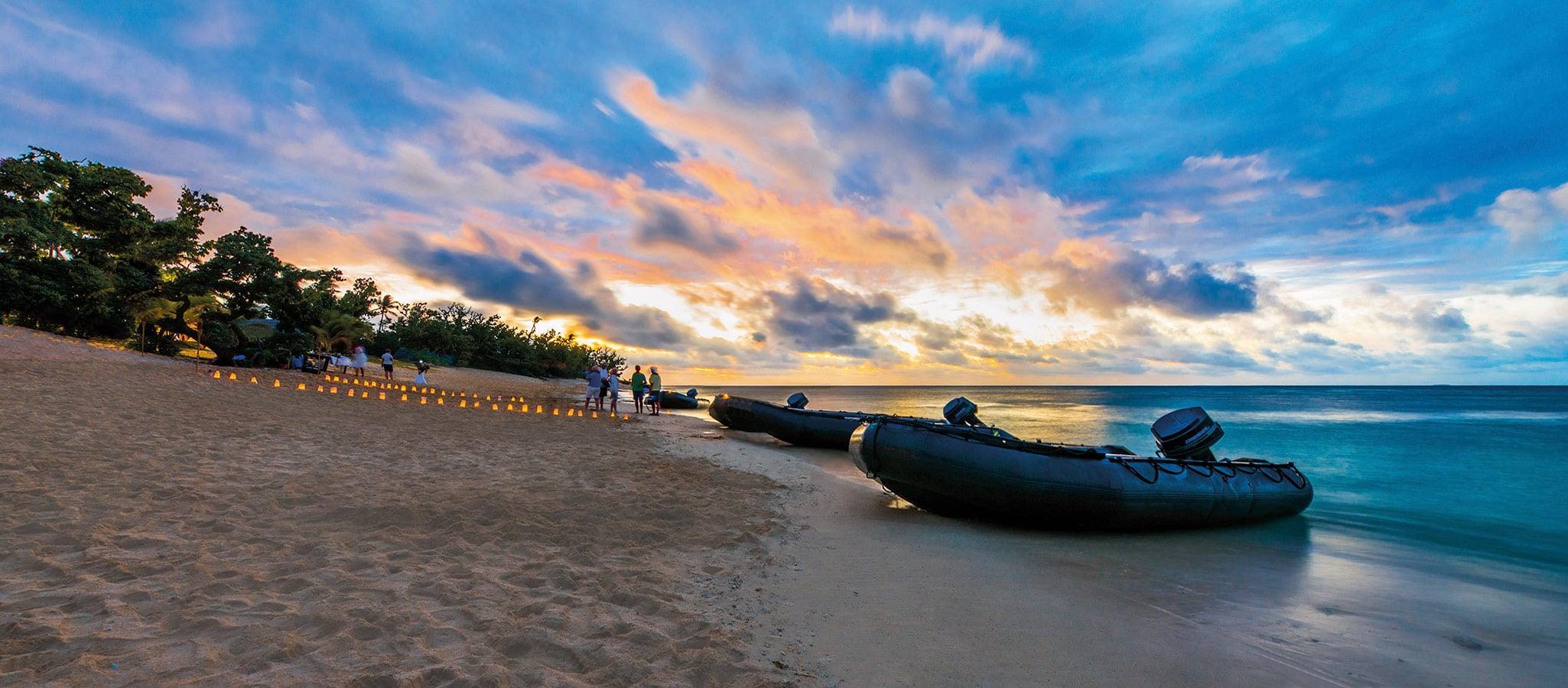 Um das Robinson Crusoe-Flair am privatisierten Strand kümmert sich unser Team von OceanEvent.
