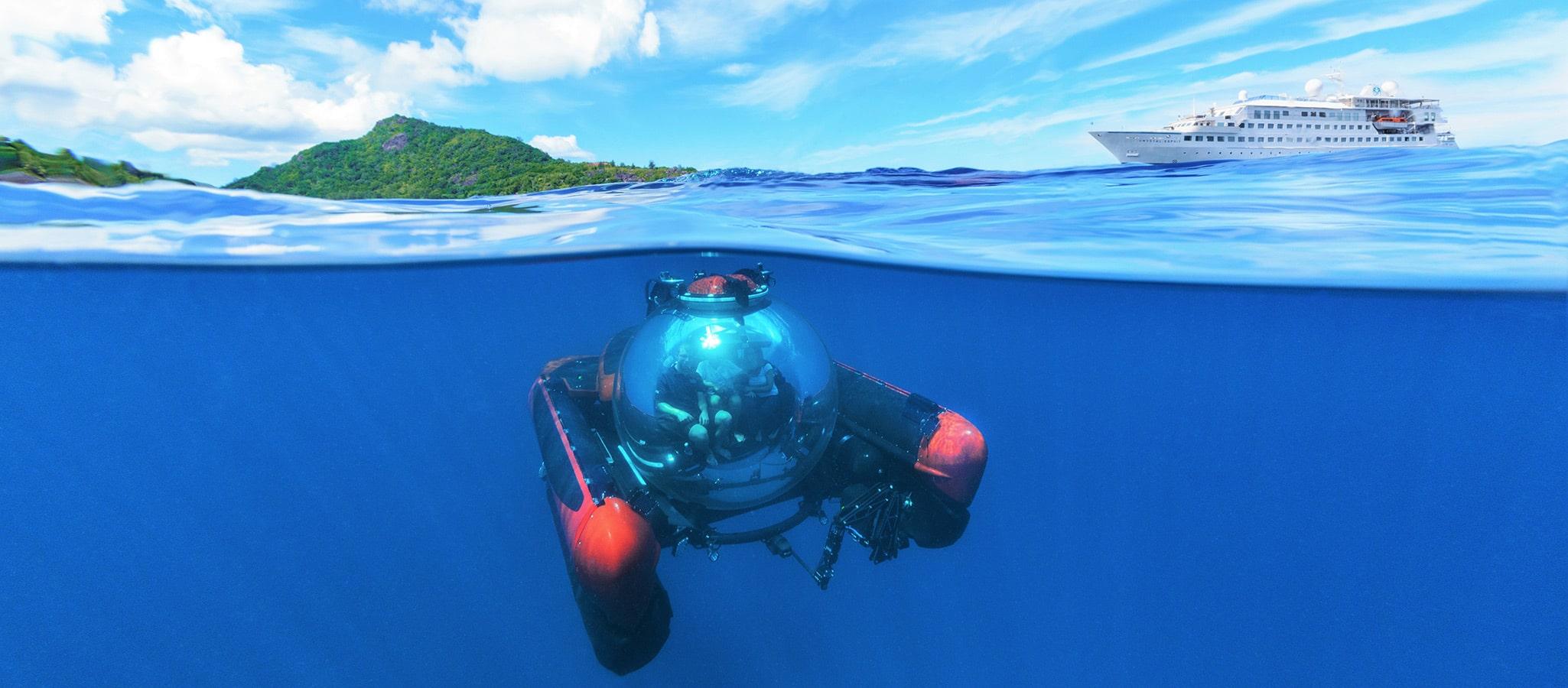 Die sogenannten Discovery Schiffe führen teilweise Tauchboote mit und ermöglichen Ihrer Gruppe Walbeobachtung, Wracktauchen, die Erkundung der faszinierenden Unterwasserwelt.