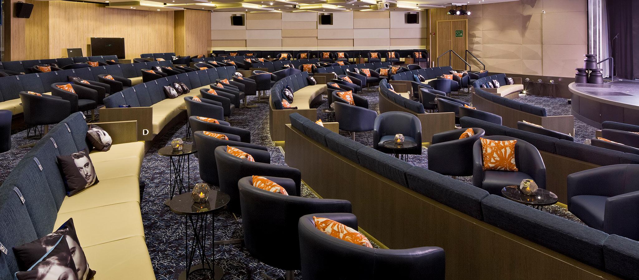 Die Tagungsmöglichkeiten an Bord sind exzellent - sowohl hinsichtlich der Räumlichkeiten als auch in puncto Tagungstechnik.