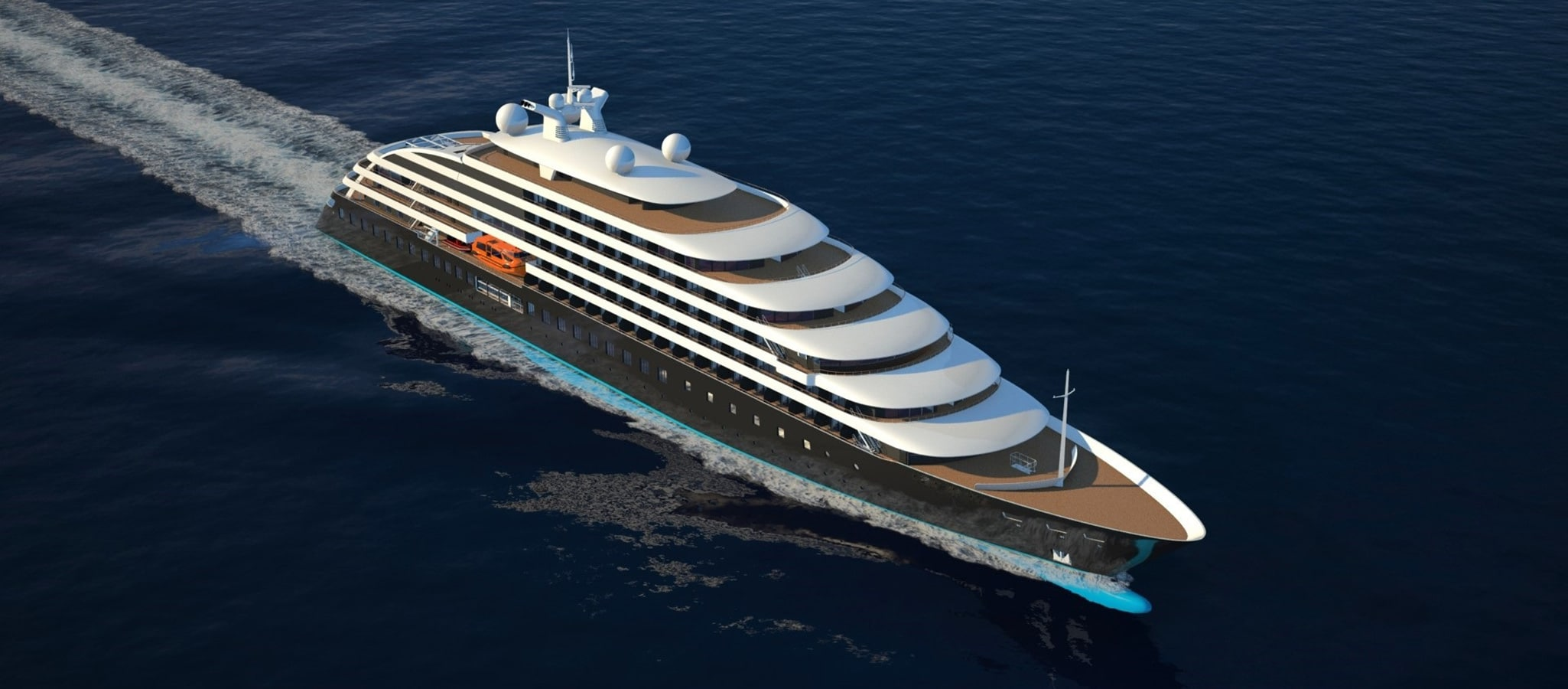 Among the cruise ships for up to 400 passengers, the premium yachts are among the most cutting-edge. Furnished by top designers, they are state of the art in terms of ecology as well. Restaurants, bars, panoramic lounges, outdoor pools and opulent spas – your guests will delight in the cruise with all their senses.
