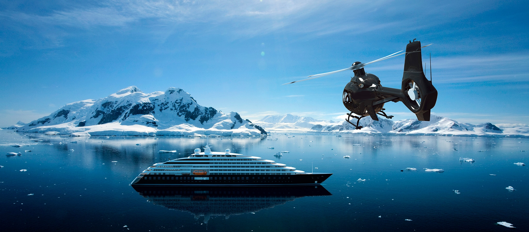 Discovering is the magic formula that promises unique events. It brings your guests to regions that would be very hard to access without the on-board helicopter.