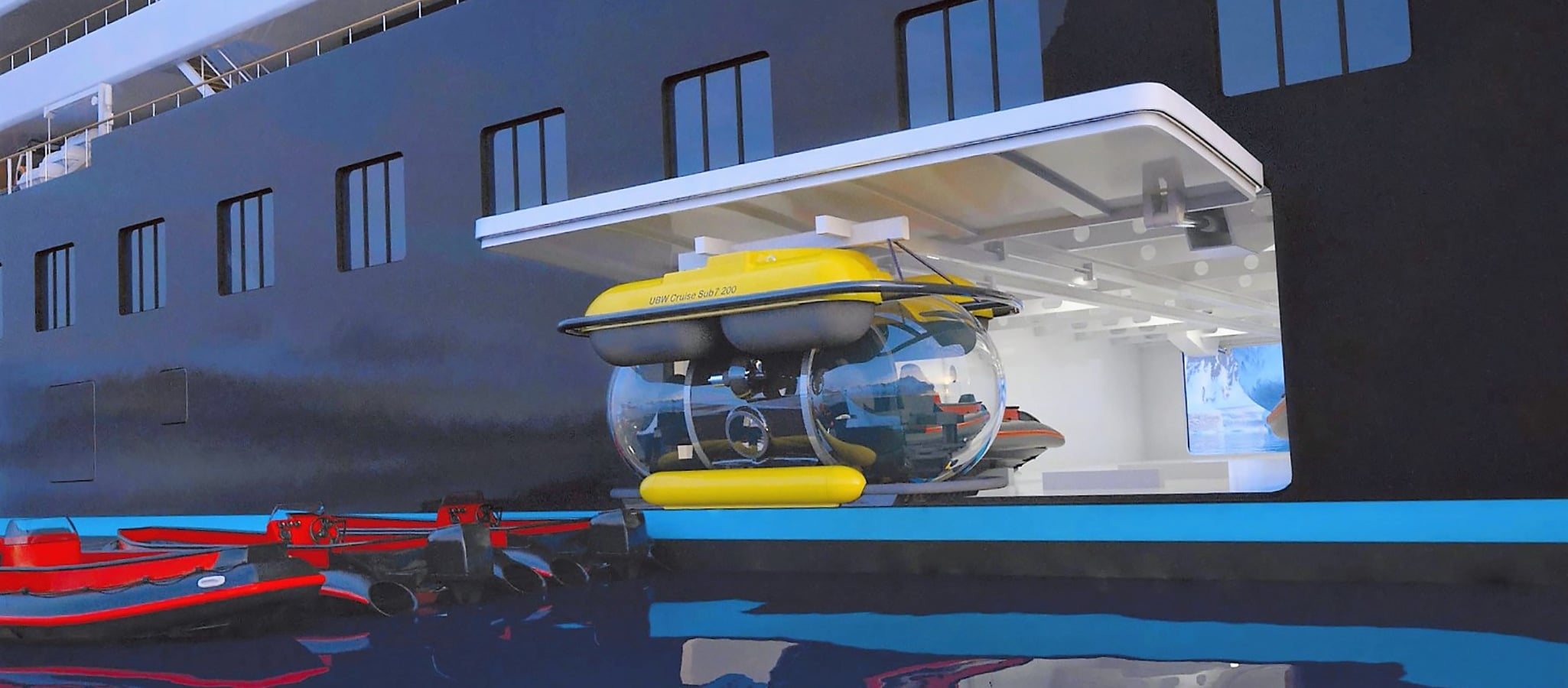 With submersibles, your guest can embark on an adventure to explore the underwater world.