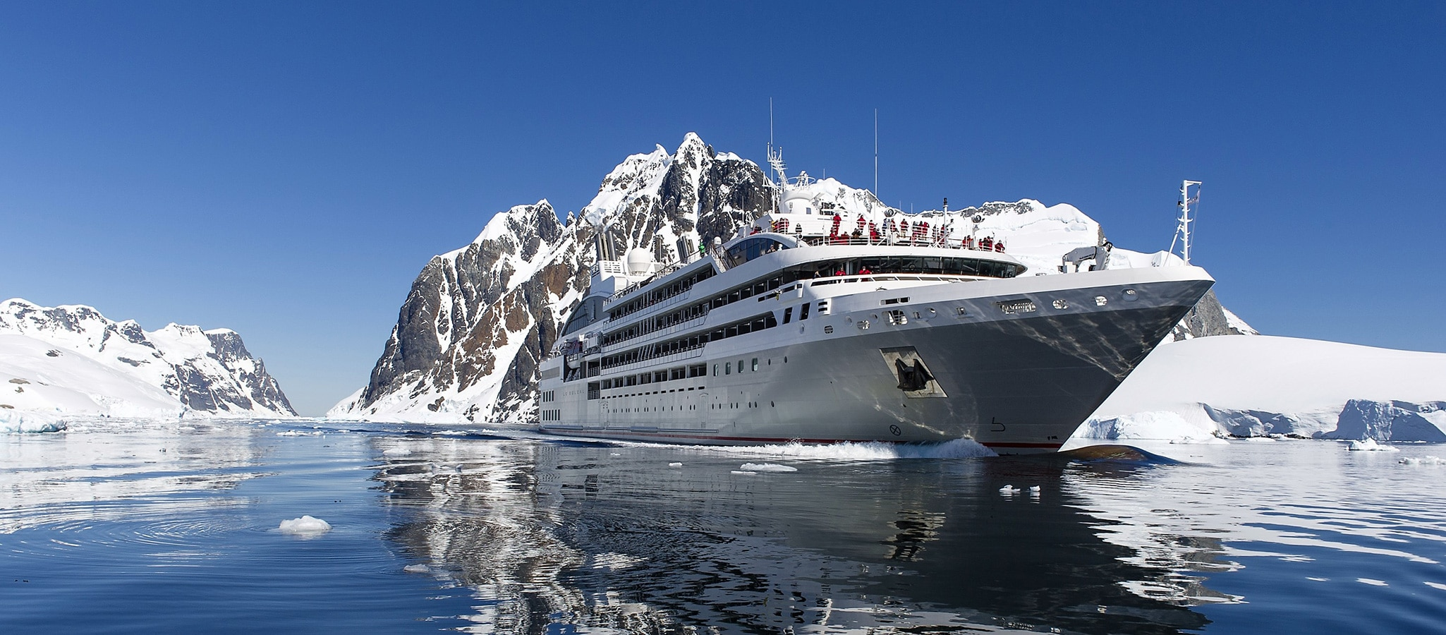Partially certified with ice class, the cruise yachts take your group to breathtaking event destinations