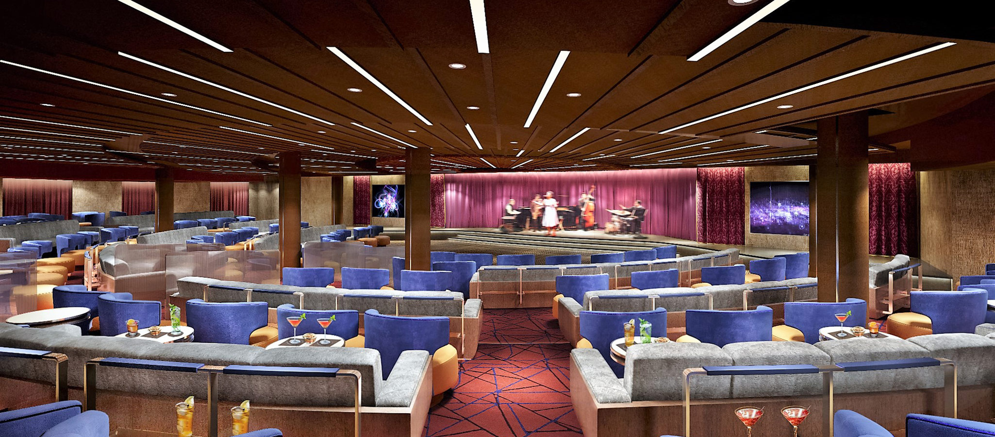 Conference planners benefit from the top-notch shows on board: their technically perfect equipment is included in the charter rate.