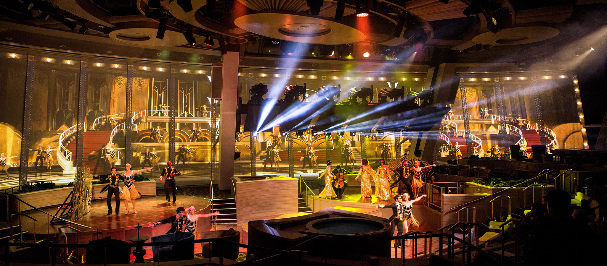 OceanEvent fine-tunes the shows of the professional musical artists on board to the tastes of our charter clients – so that you will get your very own musical on your exclusively chartered cruise ship.