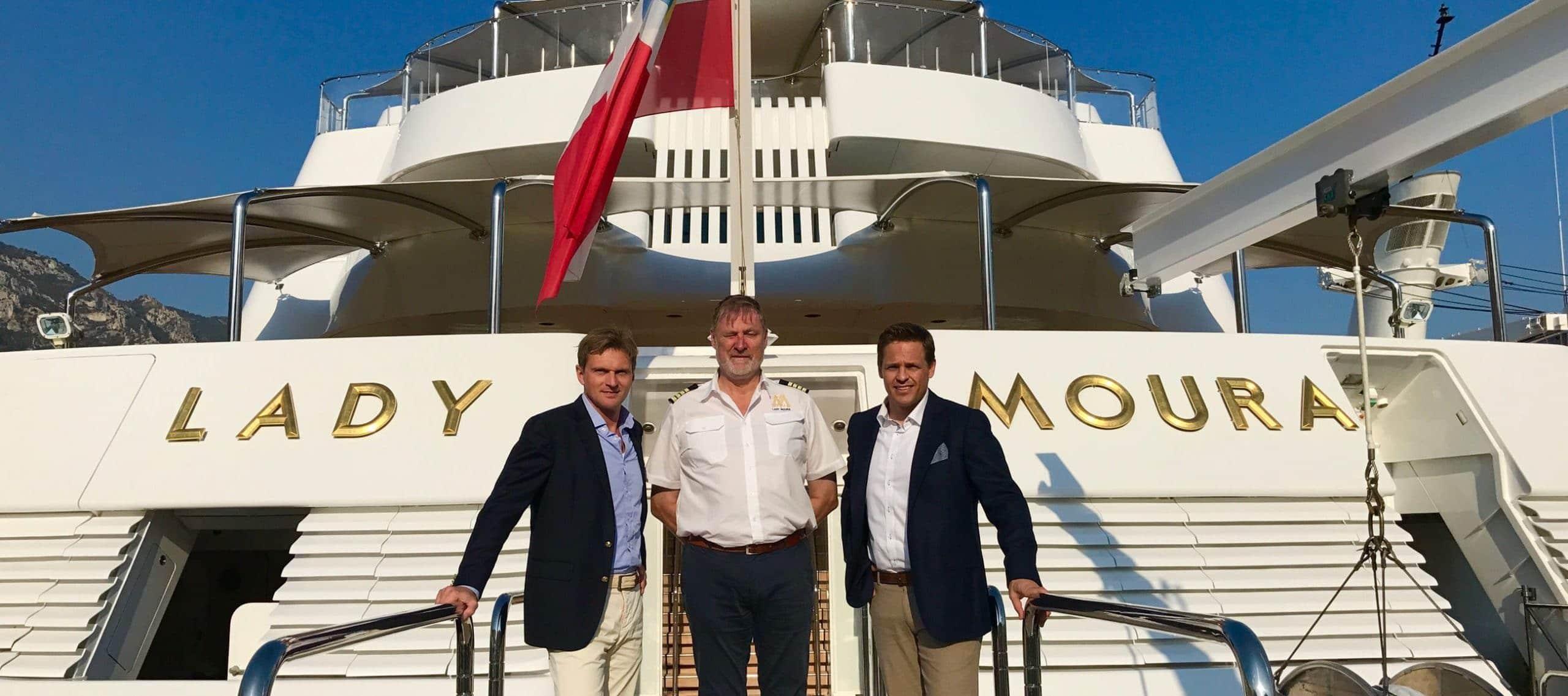 OceanEvent Dreharbeiten auf Luxusyacht Lady Moura