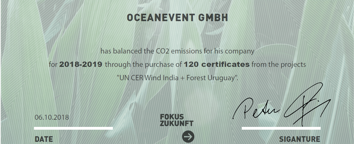 OceanEvent is a climate-neutral Company
