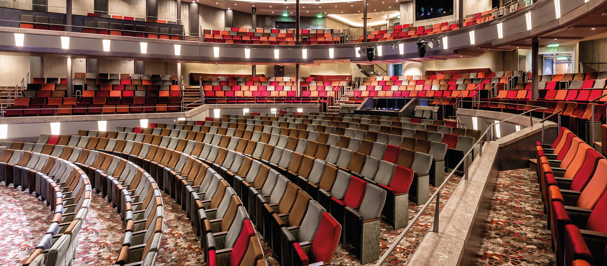 Theatres offer excellent space thus encouraging greater meeting attendance and participation.